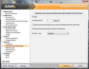 Ustawienia wtyczki AutoPause wAIMP-ie.