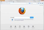 Mozilla Firefox zaraz po zainstalowaniu.
