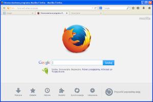 Mozilla Firefox - po zmianach: okno główne