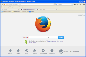Mozilla Firefox - po zmianach: wszystkie paski