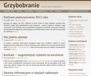 Tak blog wyglądał jeszcze wczoraj.
