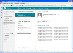 Outlook - e-maile zpolskimi znakami