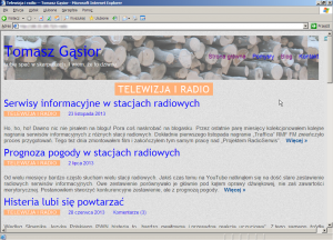 Nowy motyw wInternet Explorerze 6.