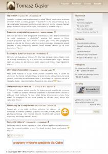 A tak blog wyglądał wgrudniu 2011.
