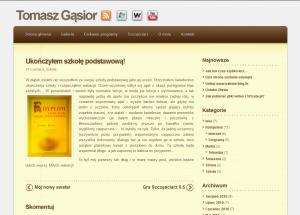 Tomasz Gąsior blog, wakacje 2010