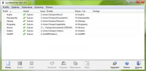 Okno główne programu - lista stworzonych profili.